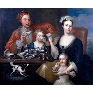 «The Tea Party» R. Collins — Richard Collins Courtesy of Goldsmiths Hall